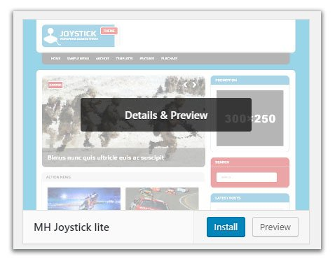 install preview wordpress