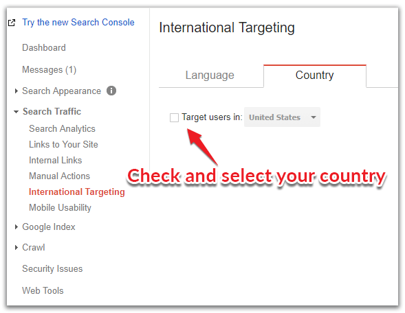 country specific targeting