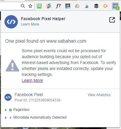 check facebook pixel working