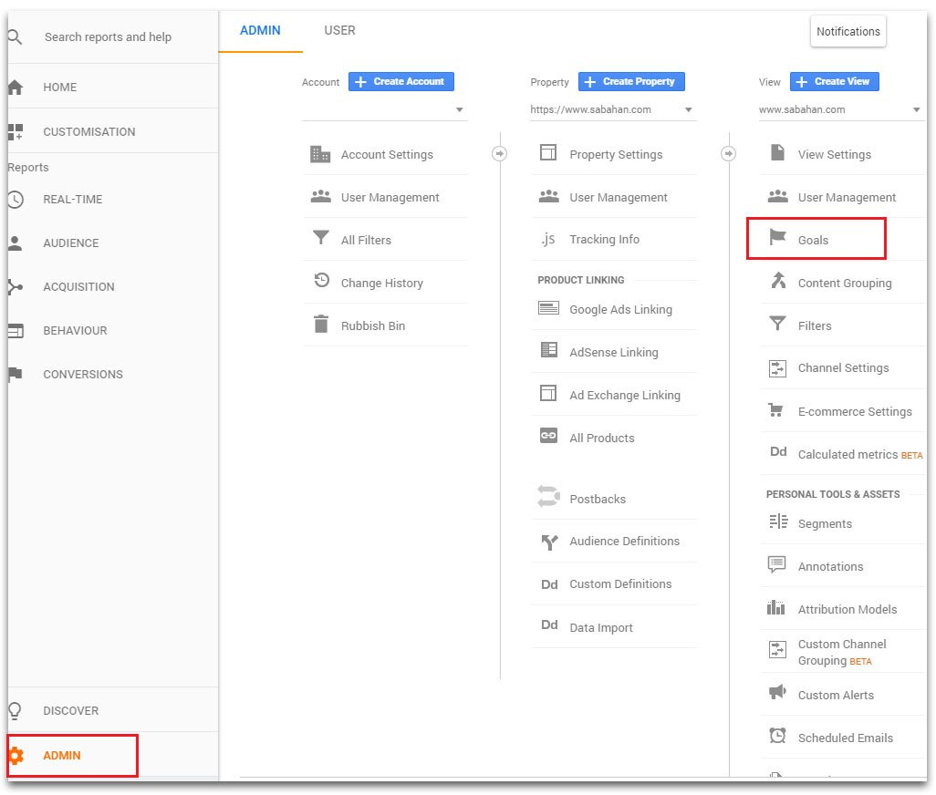 track email signups using google analytics goals