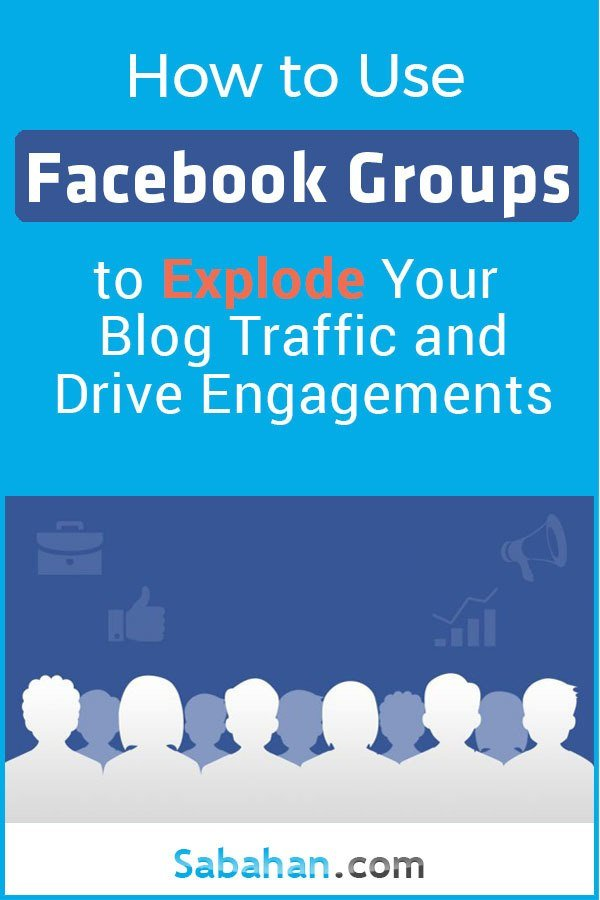 How to use Facebook groups to increase your blog traffic, drive engagement and interaction. #facebookgroups #facebookgroupslist #facebookpromotion