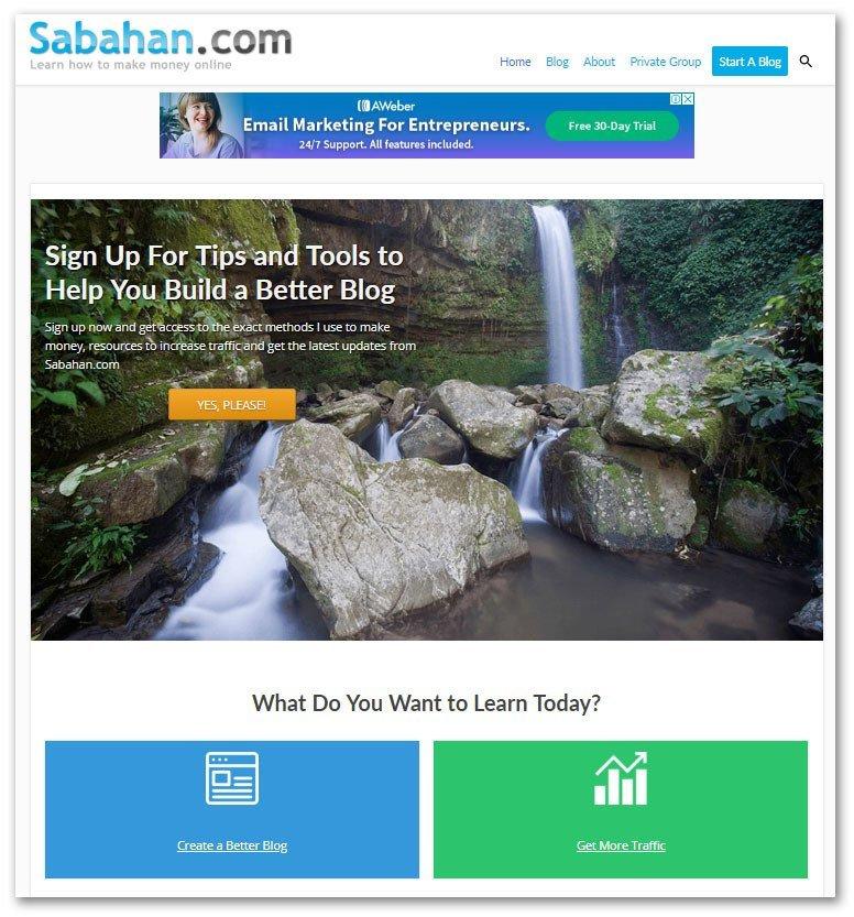 creating static homepage