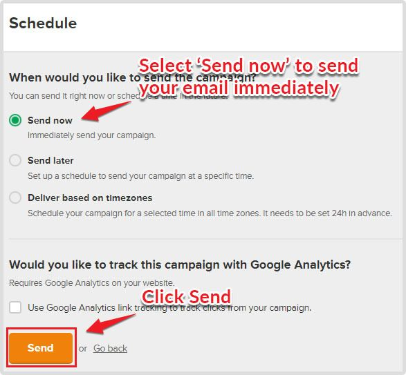Sending email campaign