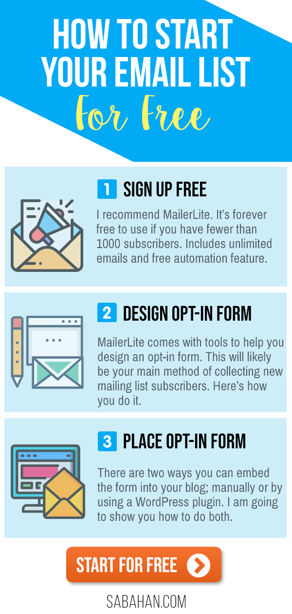How to start an email list for free right now. #emaillists #emailmarketing #mailinglist #startemaillist #emaillistbuilding