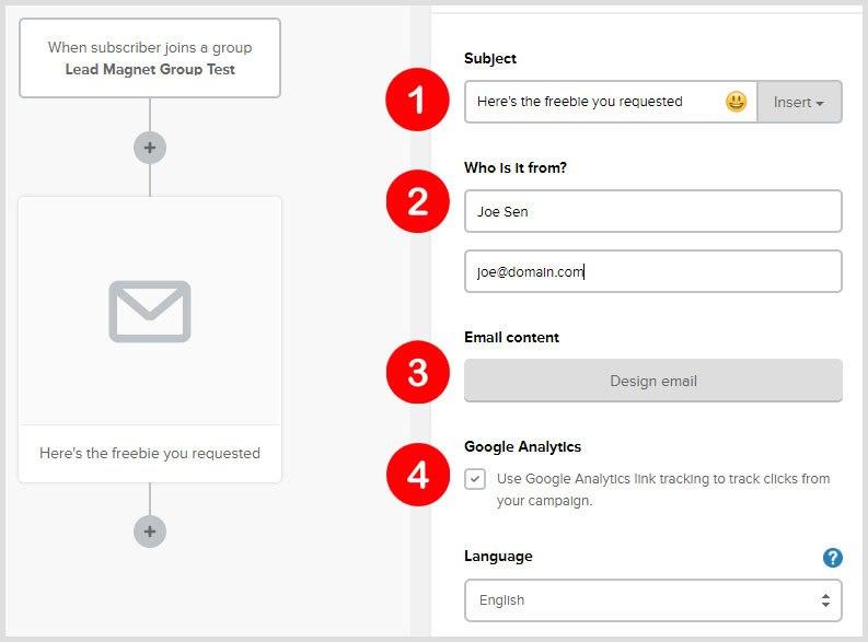 autoresponder email details