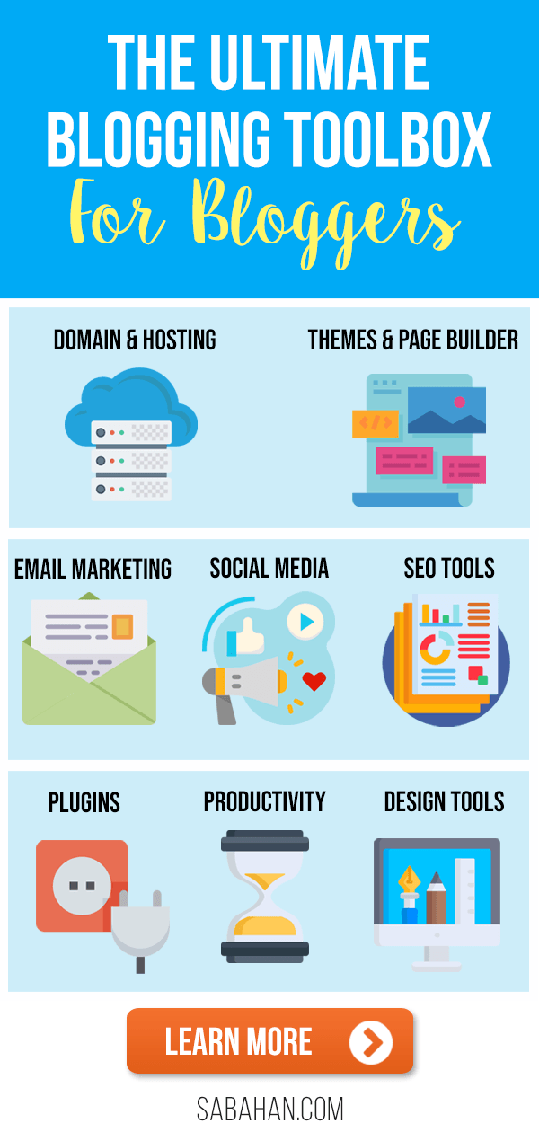 Best blogging toolbox for bloggers to increase traffic and grow faster. #bloggingtools #bloggingtoolbox #toolsforbloggers